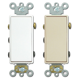 Double-Pole Double-Throw Maintained Contact Leviton Rocker Switch