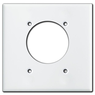 50A Shifted Round Outlet Large Cover Plate