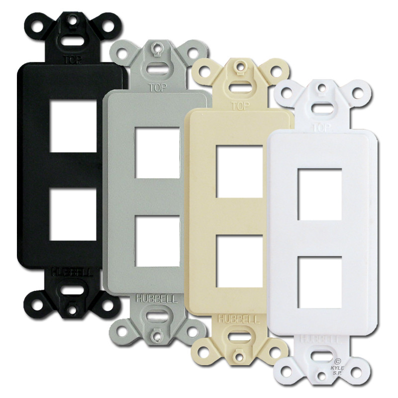 Hubbell Premise 2 Port Frames For Modular Jack Adapters Isf2