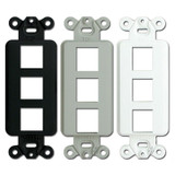 3 Port Modular Jack Adapter Frames - Hubbell ISF3