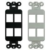 4 Port Hubbell Premise Modular Jack Frames