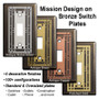 Metal Selections for Bronze Mission Period Switch Plates