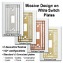 Metal Selections for White Mission Period Switch Plates