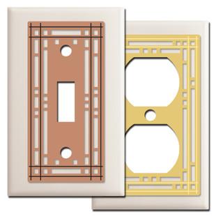 Almond Mission Design Switch Plates