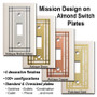 Metal Selections for Almond Mission Period Switch Plates