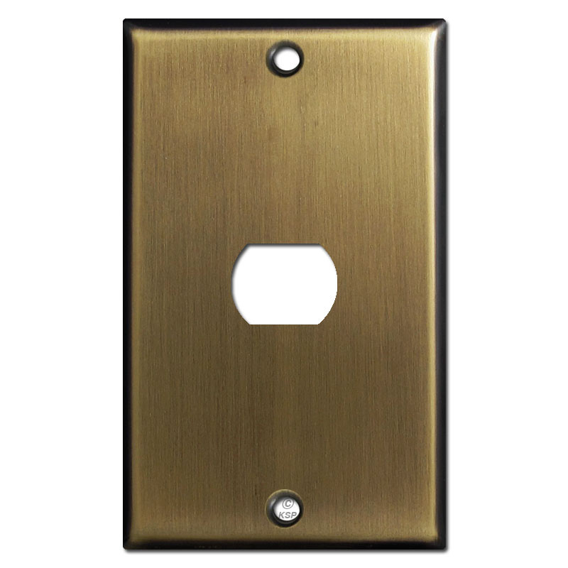 One Despard Light Switch Cover Plate Antique Brass