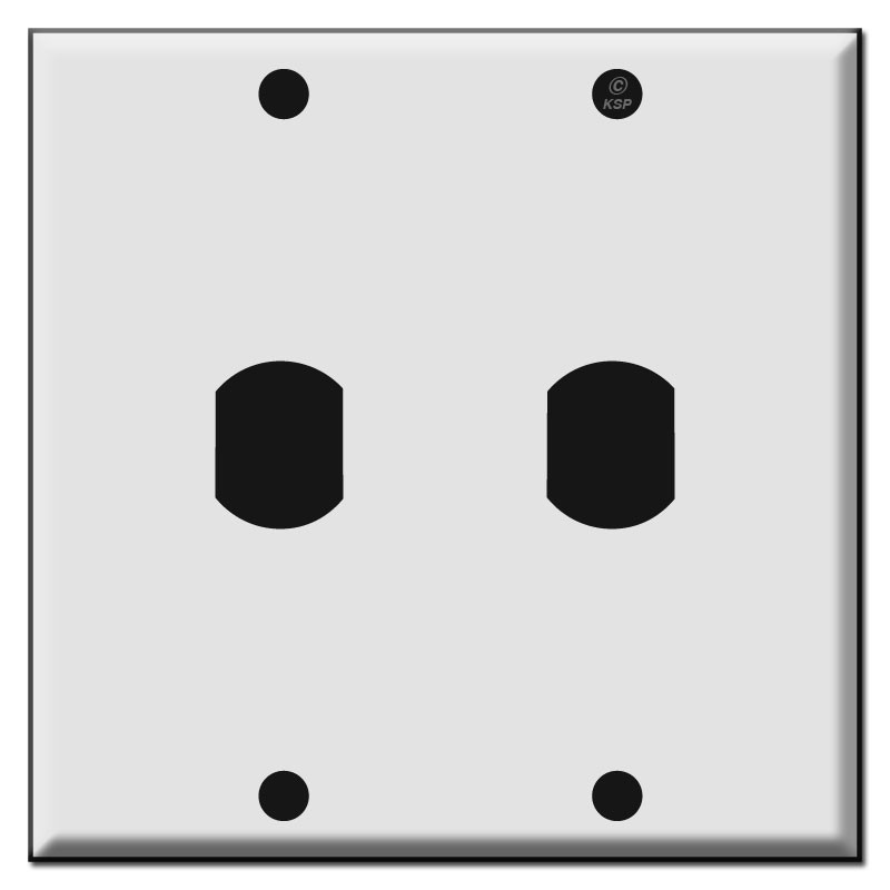 Double One Low Voltage Trigger Switch Wall Plates