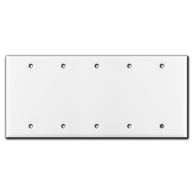 5 Gang Blank Switch Plate Covers White Kyle Switch Plates