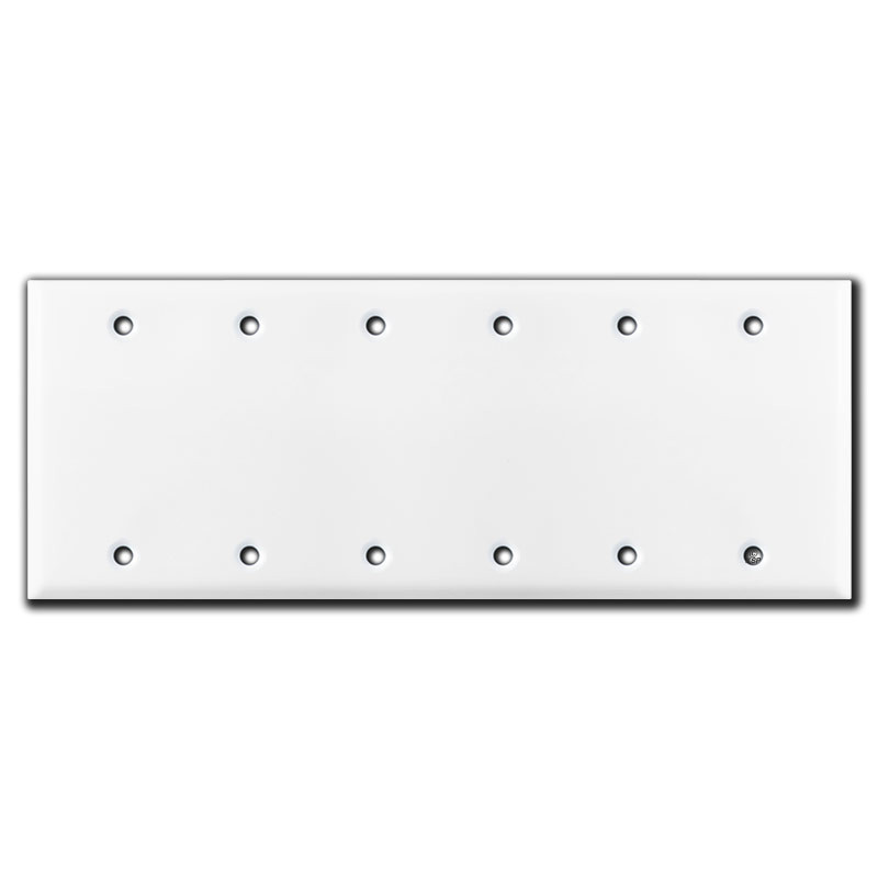 6 blank wall switch plate covers