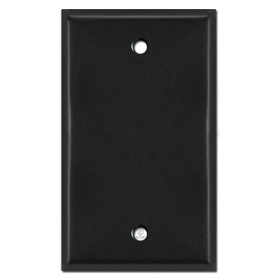 One Gang Blank Switch Plate Cover - Black