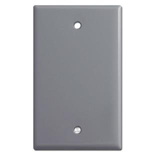 Single Gang Blank Light Switch Plate - Gray