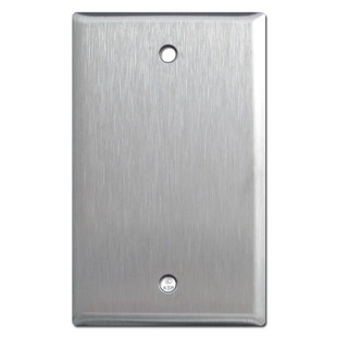 1 Gang Blank Wall Plate - Spec Grade Stainless Steel