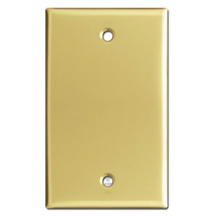 1 Gang Blank Switch Plate Covers - Polished Brass