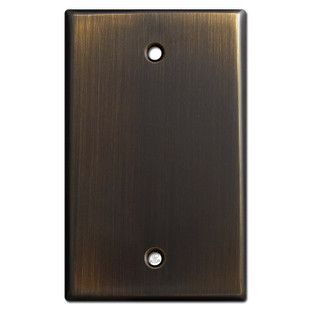 1 Blank Wall Switch Cover - Oil Rubbed Bronze