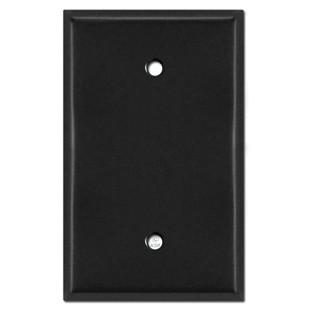 Oversized 1 Blank Jumbo Switch Plate - Black