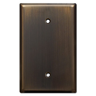 Single Gang Blank Oversized Wall Plate - Oil Rubbed Bronze