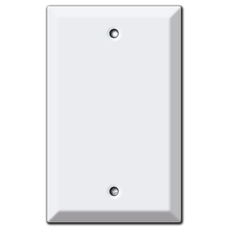Deep 1 Blank Wall Plate Covers - White