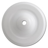 Deep Formed Round Ceiling Blank Outlet Center Hole Wall Plate - White