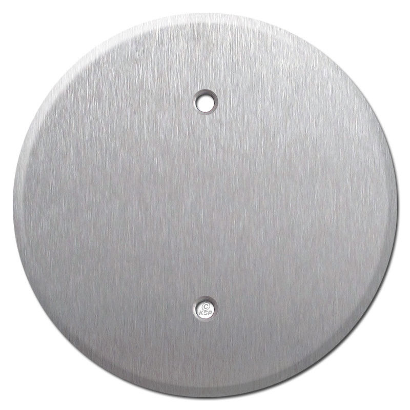 Round Ceiling Blank Outlet Covers For 325 Boxes Stainless Steel