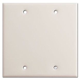 Double Blank Wall Plate - Light Almond