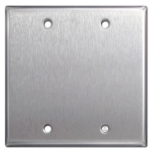 Double Blank Switch Cover - Spec Grade Stainless Steel