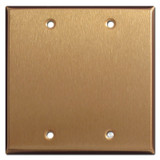 Double Blank Wall Plate Covers - Satin Bronze