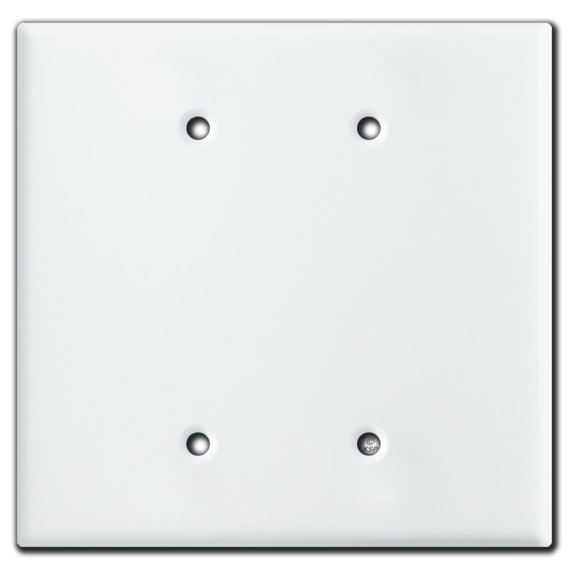 Oversized 2 Blank Jumbo Switch Plate Covers White