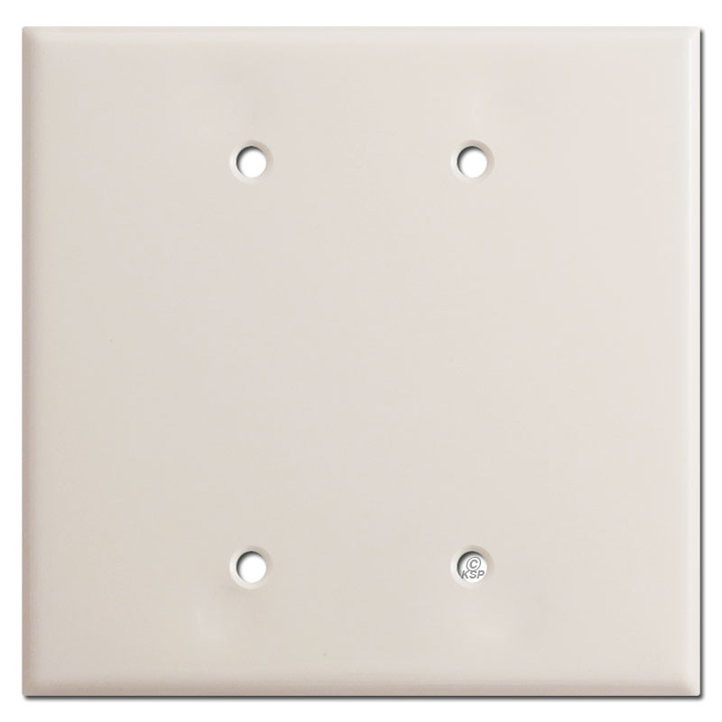 Oversized 2 Blank Switch Plate Covers Light Almond