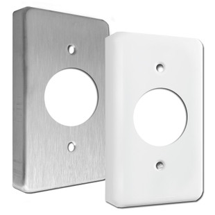 Extra Deep Single 1 4 Quot Round Receptacle Wall Switch Plate