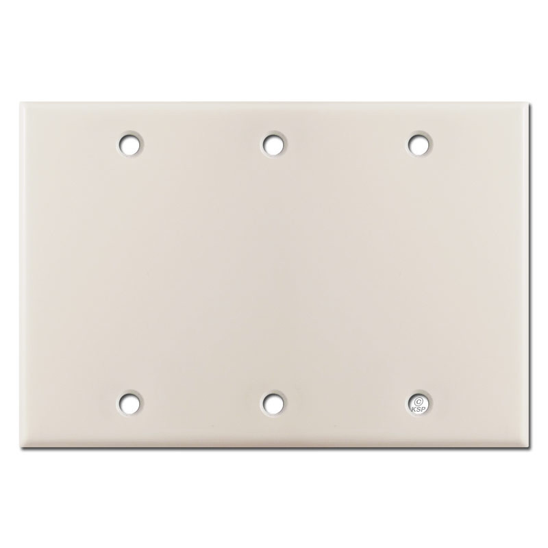 Triple Gang Blank Wall Plate Covers Light Almond