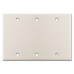 Triple Gang Blank Wall Plate Covers - Light Almond