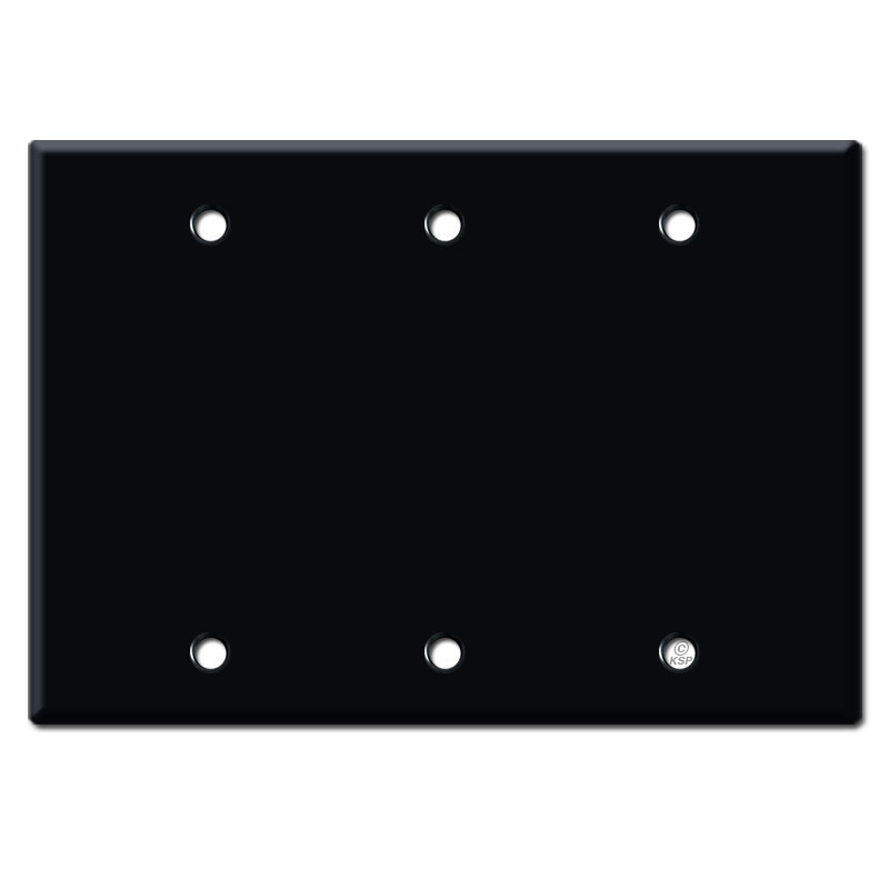 Electrical Wall Plates : Blank electrical wall plate covers black kyle switch