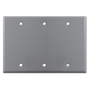 3 Blank Wall Plates - Gray