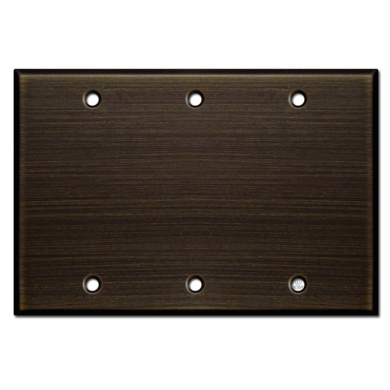 Electrical Wall Plates : Gang blank electrical wall plate oil rubbed bronze
