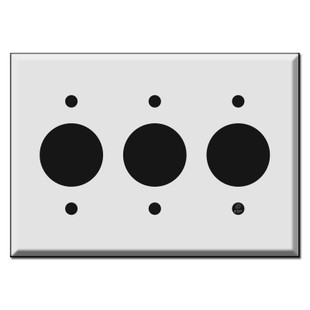 Three Gang Outlet Cover Plates For Round 1 4 Receptacles