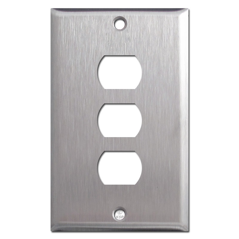 Triple Switch Plate Cover Gorgeous Switch Despard Wall Plate Covers  Satin Stainless Steel Inspiration