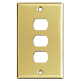 3 Despard Stacked Switch Plates - Polished Brass
