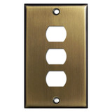 Three Despard Light Switch Wall Plates - Antique Brass