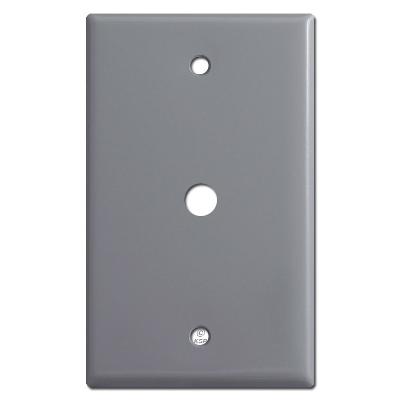 Coax Cable Outlet Wall Plates With 38 Opening Grey