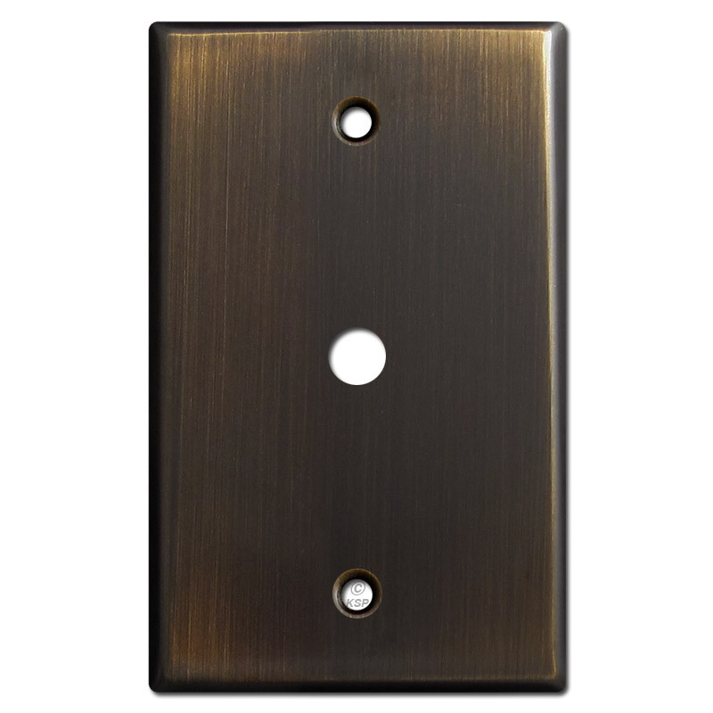 3 8 hole cable tv or internet jack wall plate oil. Black Bedroom Furniture Sets. Home Design Ideas