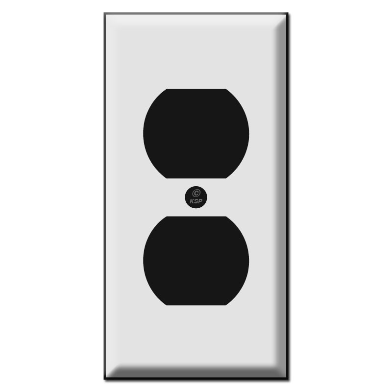 225 inch single narrow outlet cover plates