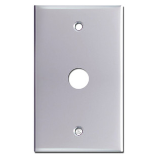 """Phone Cable Switch Plate with .625"""" Opening - Polished Chrome"""