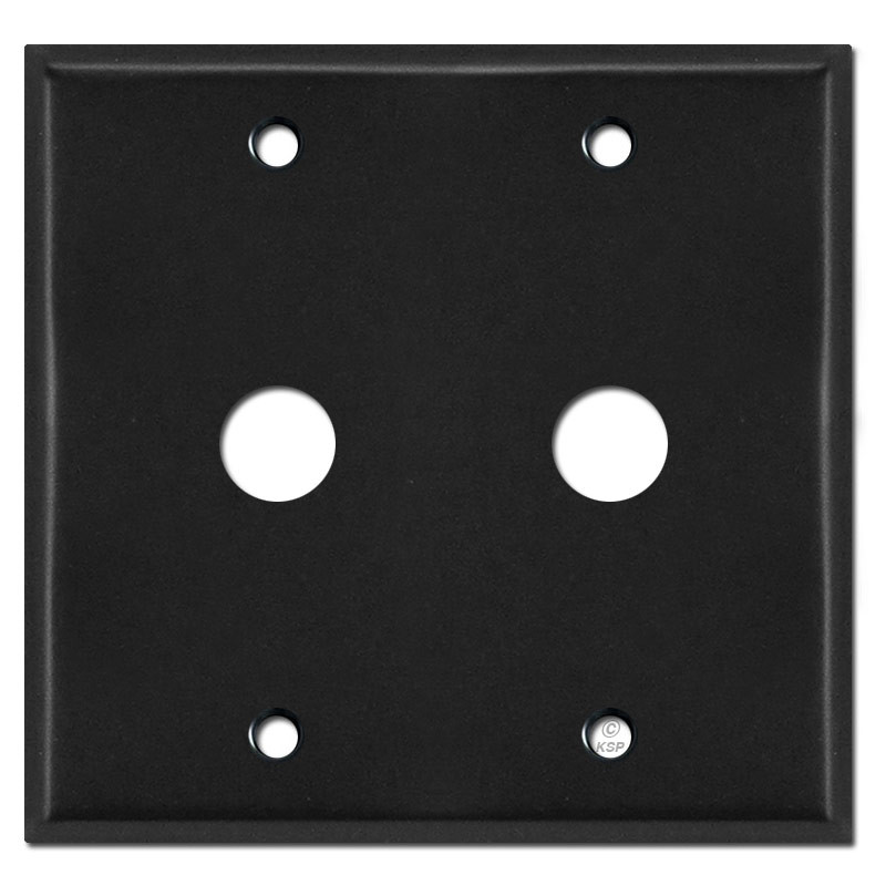 double 5 8 phone cable wall outlet covers black. Black Bedroom Furniture Sets. Home Design Ideas