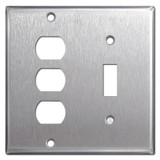 1 Toggle 3 Despard Light Switch Plate - Satin Stainless Steel