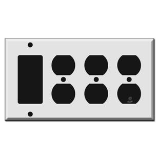 Triple Outlet - Single Rocker Wall Plates