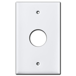 "1.125"" Round Opening Control Unit Wall Switch Plate - White"