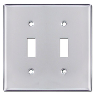 2 Toggle Light Switch Cover - Polished Chrome