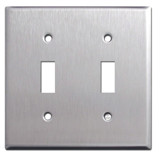 2 Gang Toggle Light Switch Plates - Spec Grade Stainless Steel