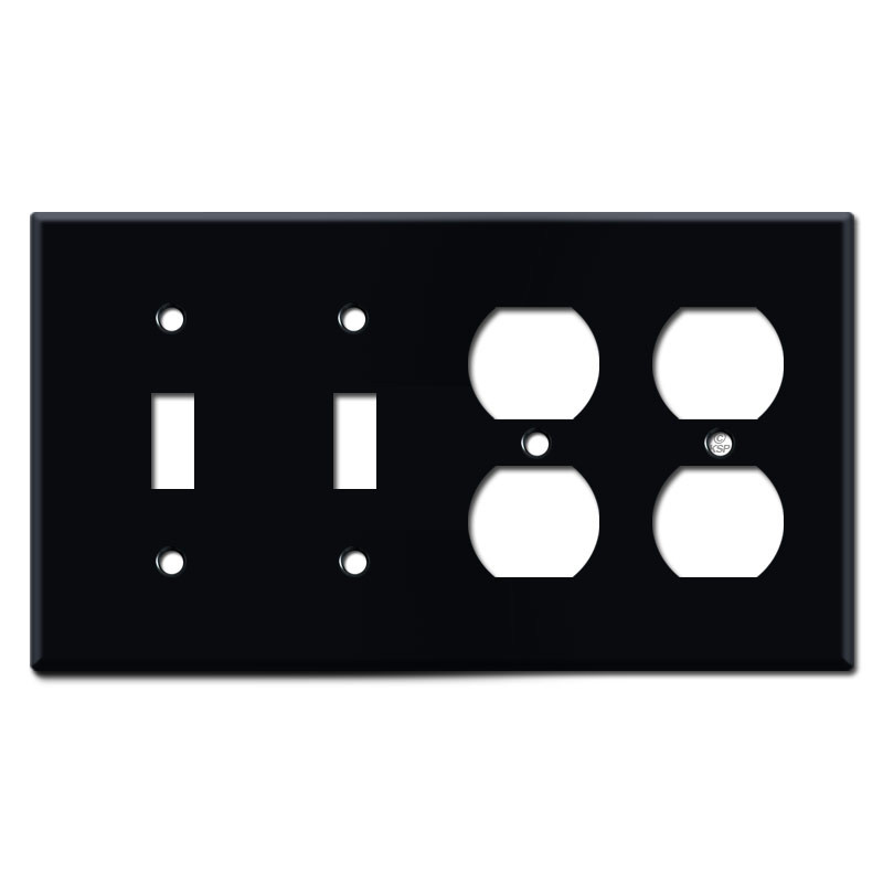 2 Toggle 2 Duplex Outlet 4 Gang Light Switch Covers