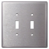Jumbo Double Toggle Switch Plate - Spec Grade Stainless Steel